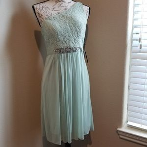 NWT Adrianna Papell One Shoulder Dress Size 6